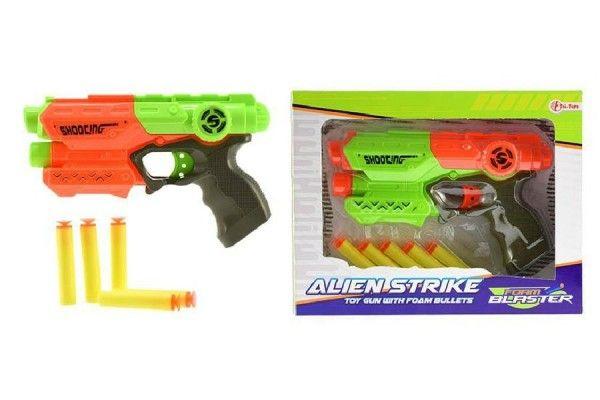 Teddies Pistole na pěnové náboje 5ks plast 20cm, více barev