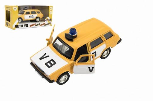 Levně TEDDIES Policejní auto VB combi na zpětné natažení na baterie se zvukem