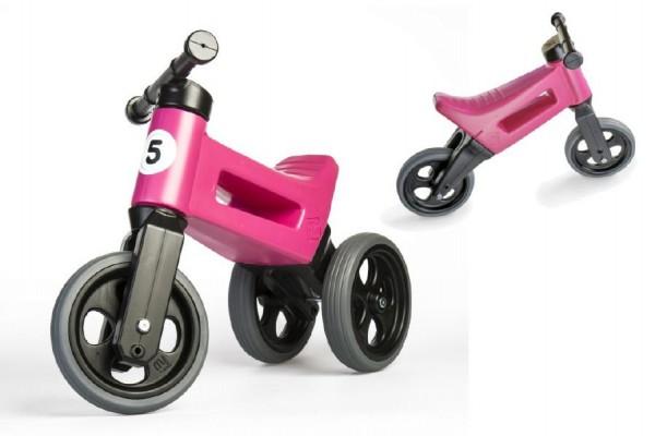 Odrážedlo FUNNY WHEELS Rider Sport 2v1 růžové
