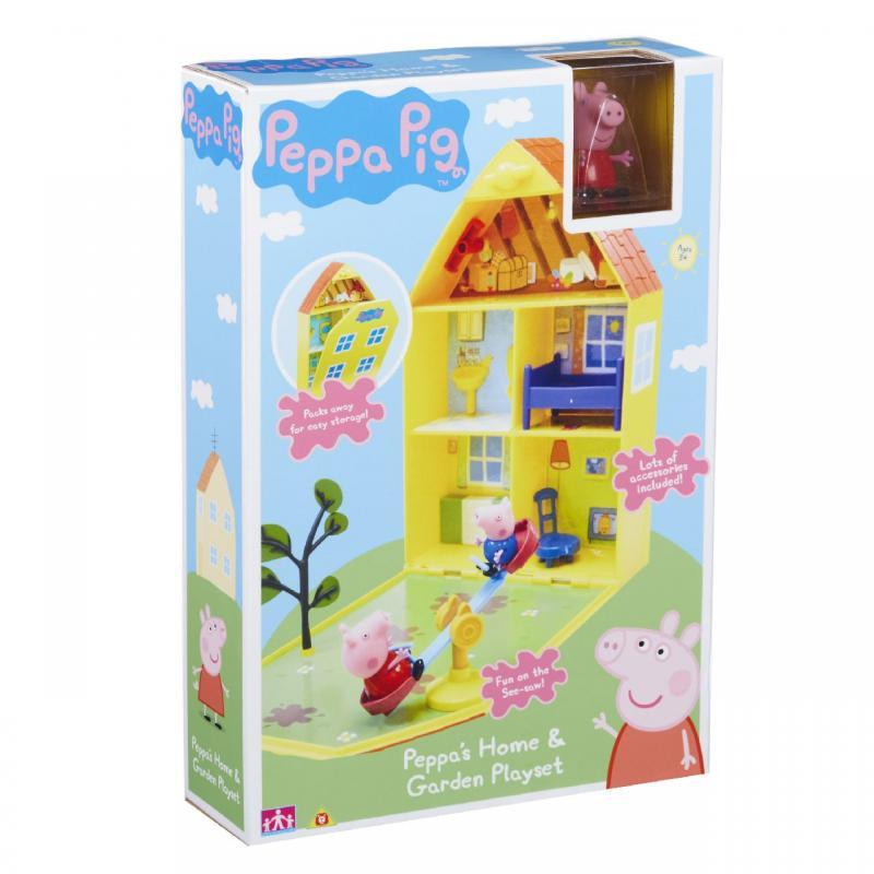 Teddies PEPPA PIG - domeček se zahrádkou, figurkou a příslušenstvím