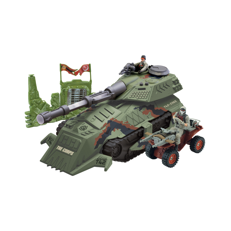 WIKY The Corps! Tank s vojáky 2 ks, 39 cm