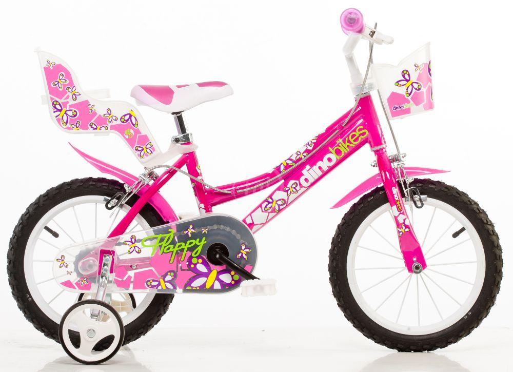 "Dino Bikes Dětské kolo růžové 16"""