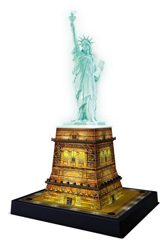e1689013f Ravensburger 3D puzzle Socha Slobody 3D (Nočné edícia) 108 dielikov.  Previous