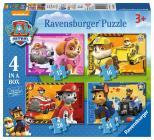 Ravensburger puzzle Tlapková Patrola; 4v1, 12/16/20/24 dílků