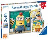 Ravensburger puzzle Mimoňové: Já Padouch 3x49 dílků
