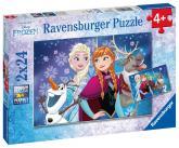 Dětské puzzle  Ravensburger Disney Ledové království 2x24 dílků