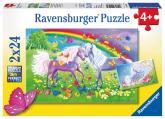 Ravensburger Puzzle Duhoví koníčci 2x24 dílků