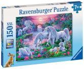 Ravensburger puzzle Jednorožci při západu slunce; 150 dílků