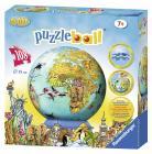 Ravensburger puzzle Dětská mapa světa Puzzleball 108 dílků