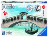 Rialto most, Benátky 216 dílků 3D