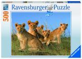 Ravensburger puzzle Lvíčí mláďata; 500 dílků