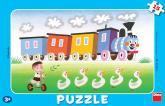 Dino puzzle Veselá mašinka 15 dílků deskové