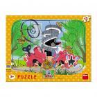 Dino puzzle Krtek opravář 12 dílků deskové