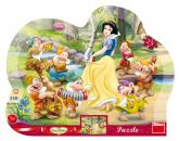 Dino puzzle Walt Disney Sněhurka 25 dílků kontura