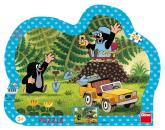 Dino puzzle Krtek se žlutým autem 25 dílků