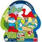 Dino puzzle Šmoulové: Volný den kont. 21 dílků