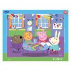 Dino puzzle Peppa Pig:Ve školce 40 dílků deskové
