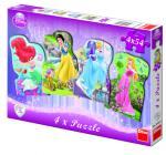 Dino puzzle WD Princezny  4x54 dílků