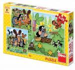 Dino Krtek a zvířátka 3x55 dílků