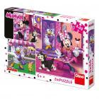 Dino puzzle Walt Disney Den s Minnie 3x55 dílků