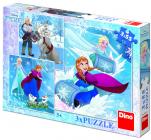 Dino puzzle Walt Disney Frozen: Zimní radovánky 3x55 dílků