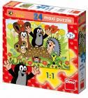 Dino puzzle Krtek na krtině 24 dílků Maxi
