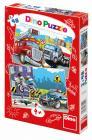 Dino puzzle Hasiči a policie 2X48 dílků