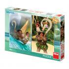 Dino puzzle Vaiana 2x66 dílků
