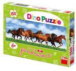 Dino puzzle Úprk koní 150 dílků panoramatické