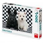 Dino puzzle Černobílí psi 500 dílků