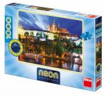 Dino puzzle Letní noc v Praze 1000 dílků neon