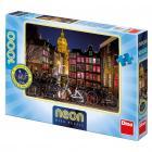 Dino puzzle Noční Amsterdam 1000D neon