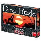 Dino puzzle Žirafy při západu slunce 1000 dílků panorma