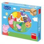 Dino puzzle Peppa Pig 12 kostek