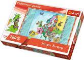 Vzdělávací puzzle Mapa Evropy 200 dílků