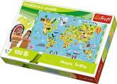 Vzdělávací puzzle Mapa Světa 100 dílků