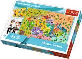 Vzdělávací puzzle Mapa České republiky 44 dílků