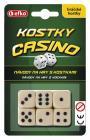 Hrací kostky Casino keramické