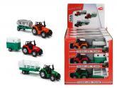 Traktor kovový s přívěsem 18 cm,více druhů