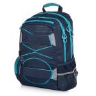 OXY Sport PASTEL LINE blue - Studentský batoh