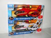 Záchranáři auto a vrtulník 1:48