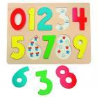Woody Puzzle na desce Číslice s beruškami