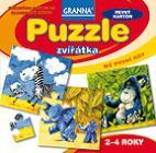 Puzzle zvířata 4, 6, 9 a 12 dílků