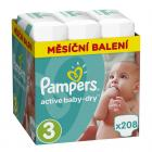 Pampers Active Baby-Dry Vel. 3, 208 ks