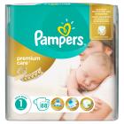 Pampers Premium Care Vel. 1, 88 ks