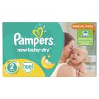 Pampers New Baby-Dry Vel. 2, 100 Plenek