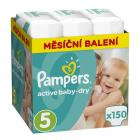 Pampers Active Baby-Dry Vel. 5, 150 ks
