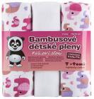 Bambusové pleny, růžoví sloni