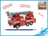 Auto hasiči 17cm kov zpětný chod na baterie česky mluvící se zvukem v krabičce