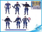 Sada policistů 10cm 6ks s doplňky